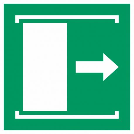 """Aufkleber """"Schiebetür öffnet nach rechts"""""""