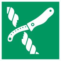 """Aufkleber """"Messer für Rettungsfloß"""""""