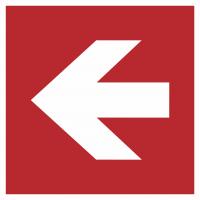 "Aufkleber ""Richtungsangabe links"""