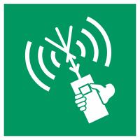 "Aufkleber ""UKW-Sprechfunkgerät (Senden/Empfangen), tragbar"""