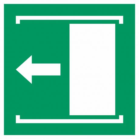 """Schilder """"Schiebetür öffnet nach links"""""""