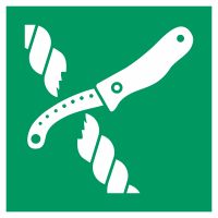 """Schilder """"Messer für Rettungsfloß"""""""