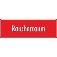 """Schilder """"Raucherraum"""" (rot)"""