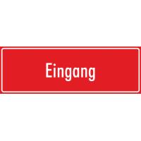 """Schilder """"Eingang"""" (rot)"""