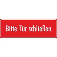 """Schilder """"Bitte Tür schließen"""" (rot)"""