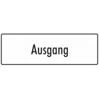 """Schilder """"Ausgang"""" (weiß)"""