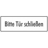 """Schilder """"Bitte Tür schließen"""" (weiß)"""