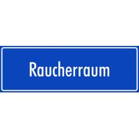 """Schilder """"Raucherraum"""" (blau)"""