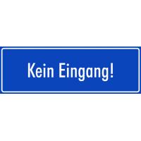 """Schilder """"Kein Eingang"""" (blau)"""
