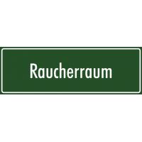 """Schilder """"Raucherraum"""" (grün)"""
