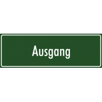 """Schilder """"Ausgang"""" (grün)"""