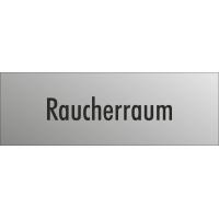 """Schilder """"Raucherraum"""" (edelstahl)"""