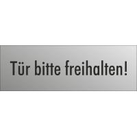 """Schilder """"Tür bitte freihalten"""" (edelstahl)"""