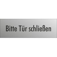 """Schilder """"Bitte Tür schließen"""" (edelstahl)"""