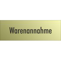 """Schilder """"Warenannahme"""" (gold look)"""