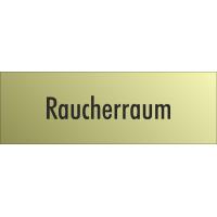 """Schilder """"Raucherraum"""" (gold look)"""