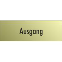 """Schilder """"Ausgang"""" (gold look)"""