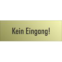 """Schilder """"Kein Eingang"""" (gold look)"""