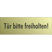 """Schilder """"Tür bitte freihalten"""" (gold look)"""