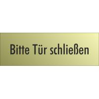 """Schilder """"Bitte Tür schließen"""" (gold look)"""