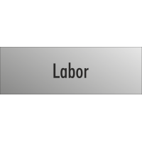 """Schilder """"Labor"""" (edelstahl)"""