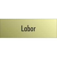 """Schilder """"Labor"""" (gold look)"""