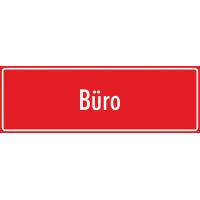 """Schilder """"Büro"""" (rot)"""