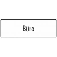 """Schilder """"Büro"""" (weiß)"""
