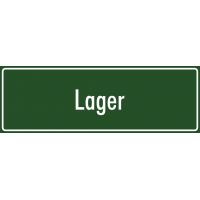 """Schilder """"Lager"""" (grün)"""