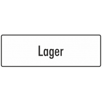 """Schilder """"Lager"""" (weiß)"""