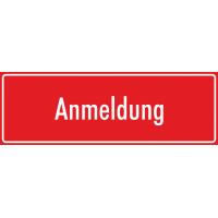 """Schilder """"Anmeldung"""" (rot)"""