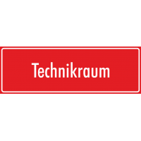 """Schilder """"Technikraum"""" (rot)"""