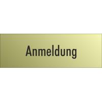 """Schilder """"Anmeldung"""" (gold look)"""