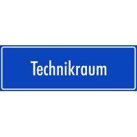 """Schilder """"Technikraum"""" (blau)"""