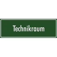 """Schilder """"Technikraum"""" (grün)"""