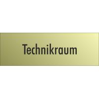 """Schilder """"Technikraum"""" (gold look)"""