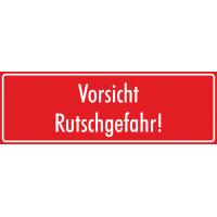 """Schilder """"Vorsicht Rutschgefahr"""" (rot)"""