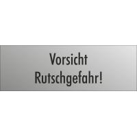 """Schilder """"Vorsicht Rutschgefahr"""" (edelstahl)"""