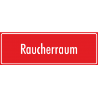 "Aufkleber ""Raucherraum"" (rot)"