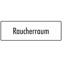 """Aufkleber """"Raucherraum"""" (weiß)"""