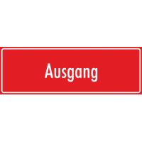 """Aufkleber """"Ausgang"""" (rot)"""