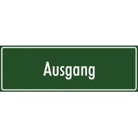 """Aufkleber """"Ausgang"""" (grün)"""