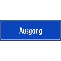 """Aufkleber """"Ausgang"""" (blau)"""