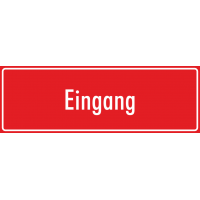 """Aufkleber """"Eingang"""" (rot)"""