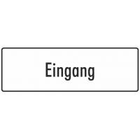"""Aufkleber """"Eingang"""" (weiß)"""