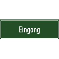 """Aufkleber """"Eingang"""" (grün)"""