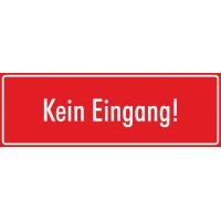 """Aufkleber """"Kein Eingang"""" (rot)"""