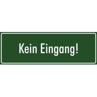 """Aufkleber """"Kein Eingang"""" (grün)"""