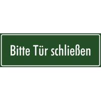 """Aufkleber """"Bitte Tür schließen"""" (grün)"""