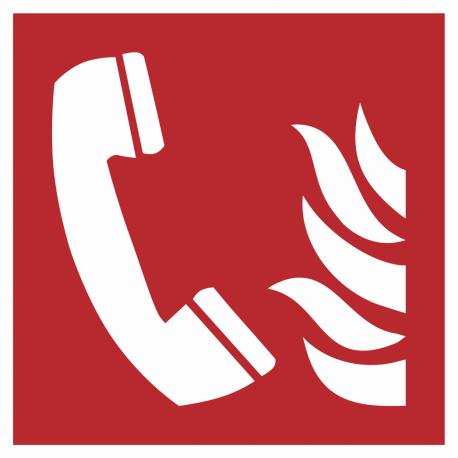 """Aufkleber """"Brandmeldetelefon"""""""